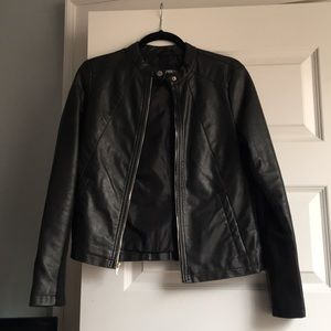 Black Express Leather Jacket Size Small